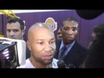 Derek Fisher at Lakers' volunteer workouts