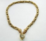 Bold and Beautiful: Vintage Yellow Gold and Diamond Heart Necklace