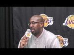 Lakers Coach Mike Brown on where Kobe Bryant fits in the offense