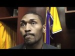 Lakers forward Metta World Peace on Achilles injury