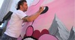 Video: Buff Monster Takes Over Standard Downtown's 6th Street Mural