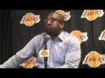 Lakers Coach Mike Brown on Andrew Bynum in win over Houston Rockets