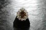 Pear Shaped Diamond Ring – 9.36 Fancy Brown