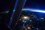 Moscow and Aurora Borealis as seen from Space