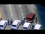 """Raw Video"" High Speed Police Car Chase Thru Downtown Dallas,Texas; Suspect Surrenders 4/19/2012"