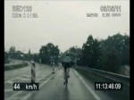 Police Pursuit: Police car chase bicycle on highway in more than 100 KmpH