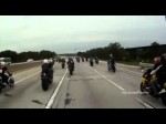 Missouri Police, Sheriff And Highway Patrol Chase 50+ Motorcycles Raw GoPro Video HD