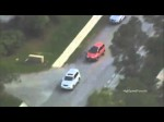 Texas Police Chase Saturn SUV Through Houston (Raw Aerial Video)