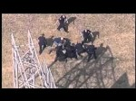 RAW VIDEO: Police chase ends, officers tackle suspect