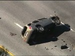 Raw: Car Chase Ends With Rollover Crash