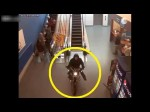 RAW: Police Chasing Motorcycle Through Shopping Mall In Canada | Man Driving Bike Through Mall