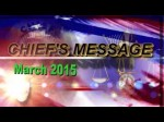 Chief's Message March 2015